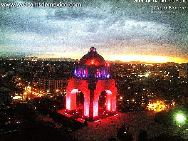 ¡Espectacular! El Monumento a la Revolución, Ciudad de México, hoy al atardecer