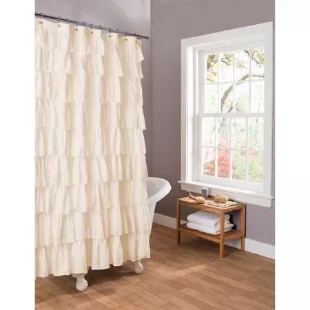 Essential Living Ruffle Shower Curtain