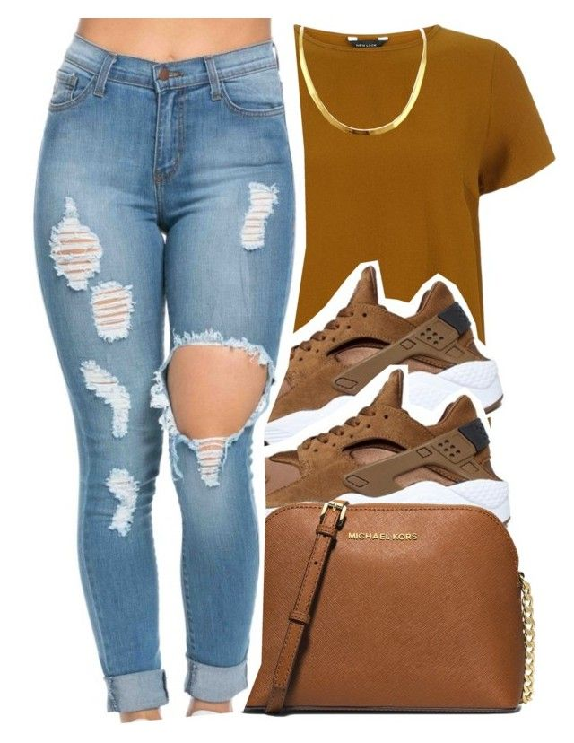 """""""2/15/16"""" by xtaymaxlovesxmisfitx ❤ liked on Polyvore featuring NIKE, MICHAEL Michael Kors, women's clothing, women, female, woman, misses and juniors"""