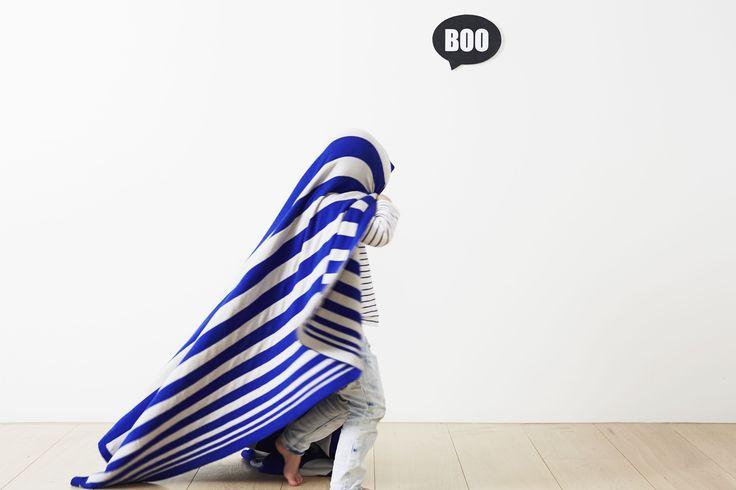 The Original Classic Blanket Grey/Klein Blue - http://kateandkate.com.au/shop/blankets/the-original-classic-blanket-3/