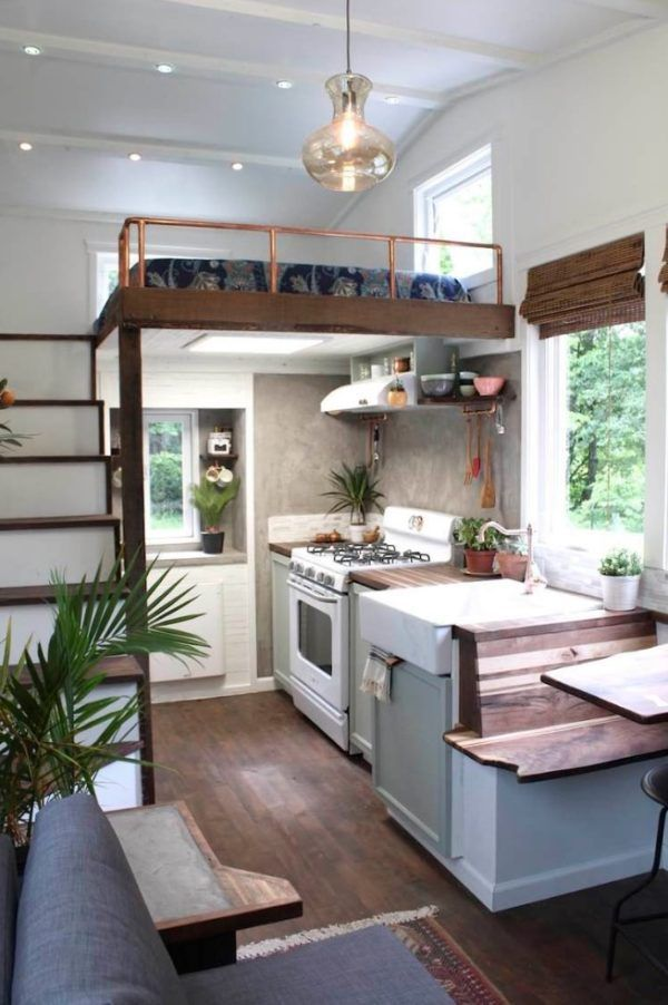 the nicest finishes and use of space i have ever seen in a tiny house