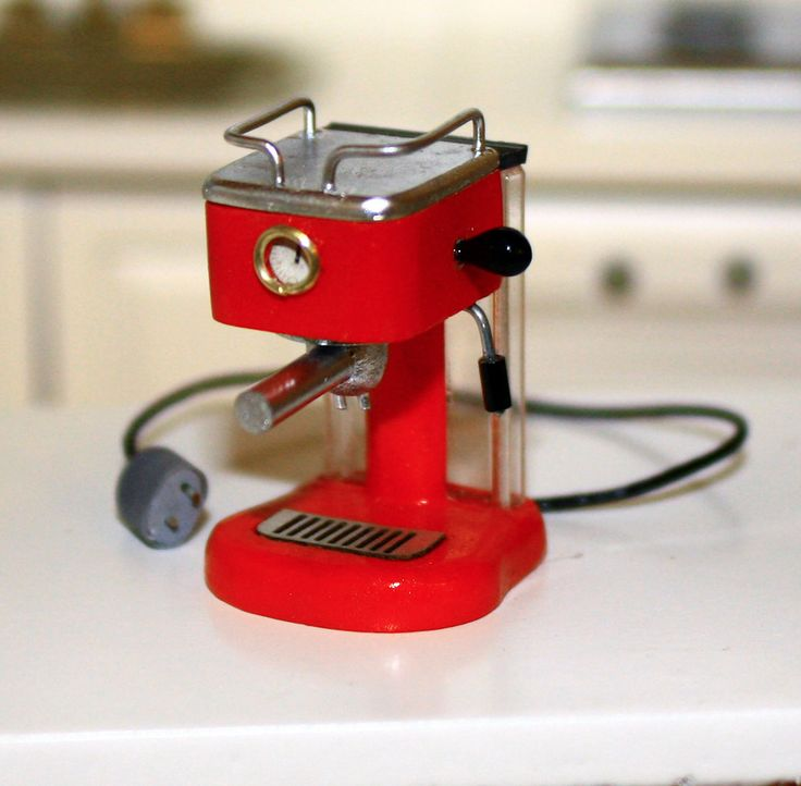 Handmade 1/12 scale Espresso Machine See it and other mini kitchen appliances at Small Scale Showcase