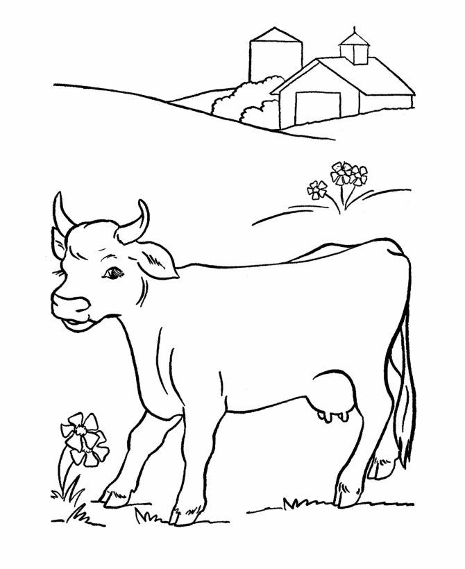 for dairy farm tour coloring book take home activity - Color Drawing Book