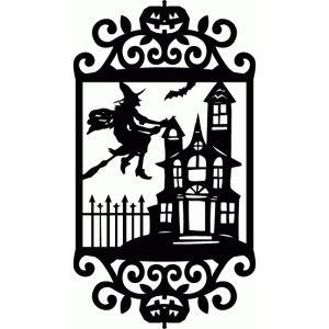 Silhouette Design Store - View Design #68787: vintage ornate swirl halloween scene frame