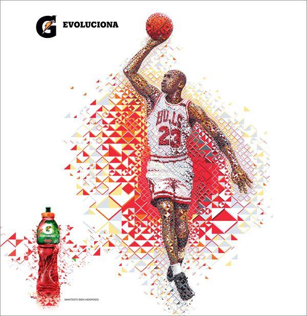 Gatorade Evoluciona & New Line G series  Illustration for 2 advertising campaigns for Gatorade