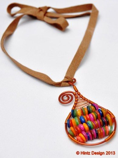 Handmade jewelry / jewellery / copper / wire / wood / semiprecious / stones / beads / leather