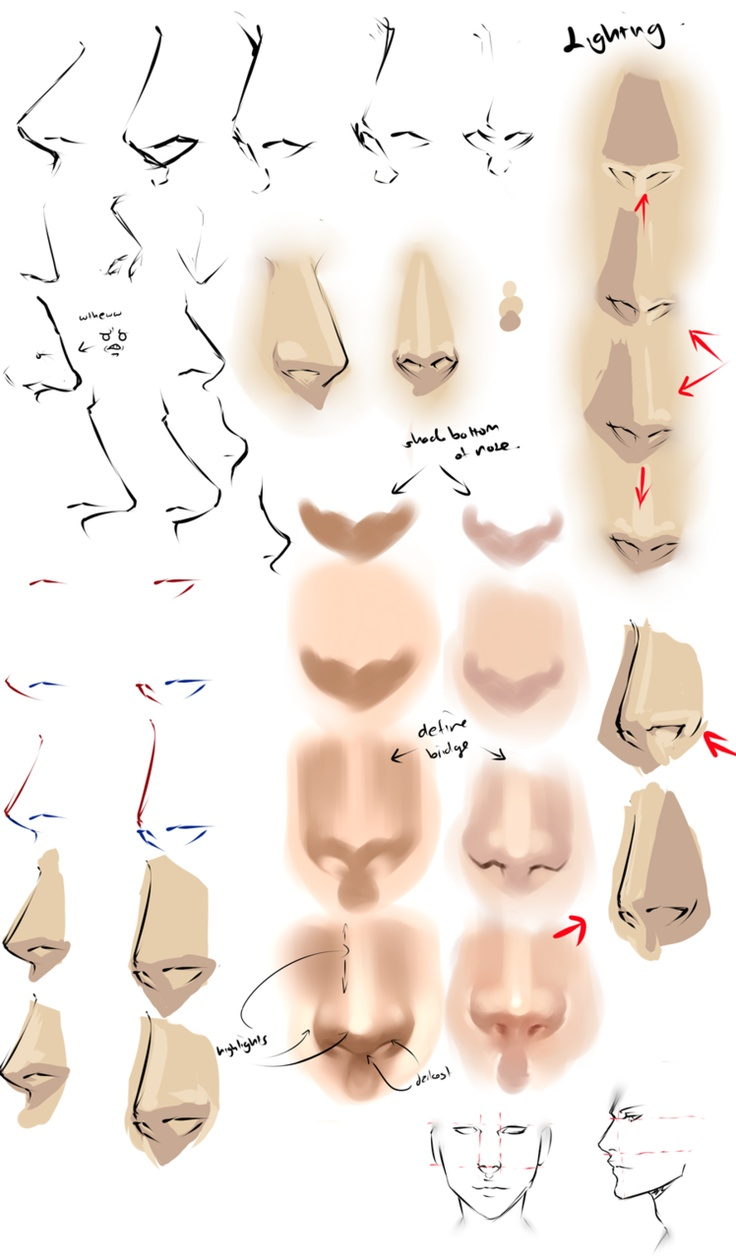 noses ✤ || CHARACTER DESIGN REFERENCES | Find more at… …