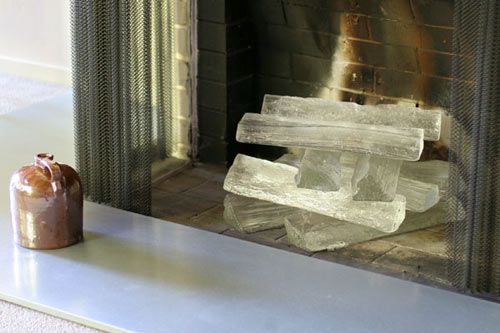 Glass logs by Jeff Benroth Glass and DeWitt Design Studio