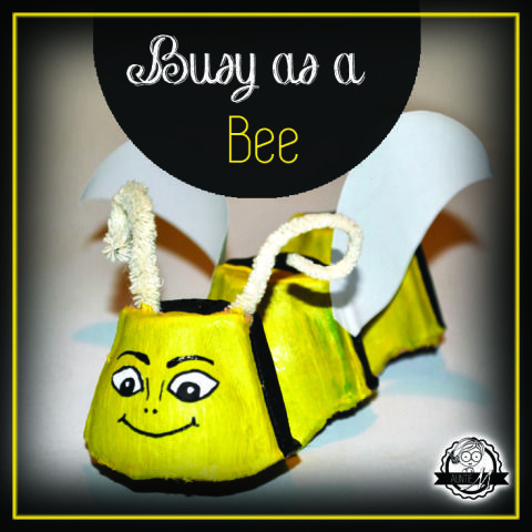 Make a bee from carton box - Auntie M Blog