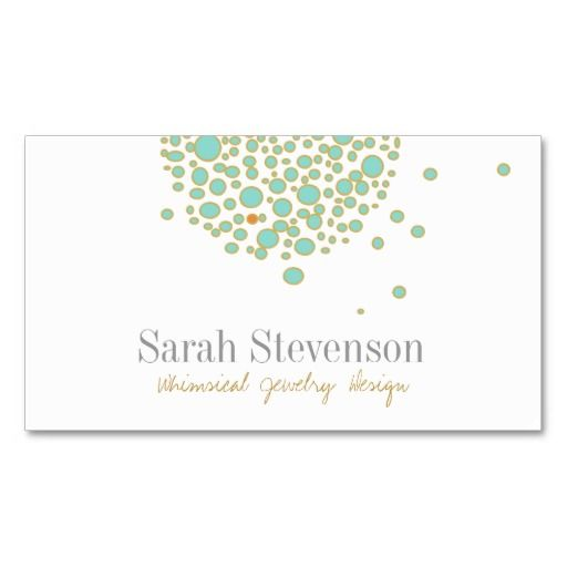 Cute & Quirky Whimsical Jewelry Designer Business Card Templates