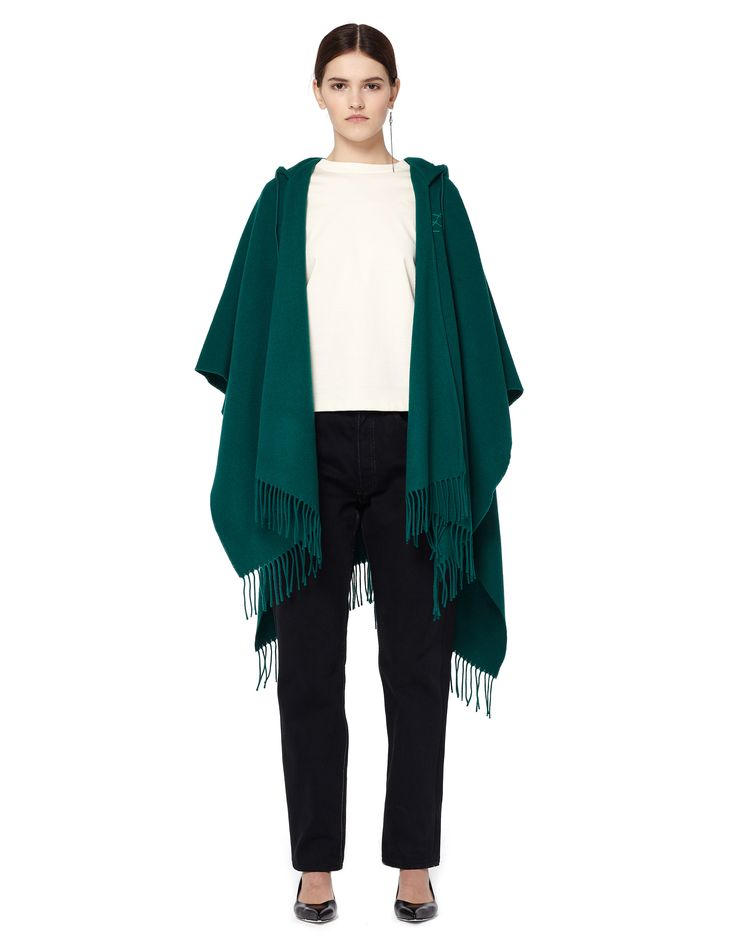 Wool and cashmere poncho by Balenciaga — SVMoscow