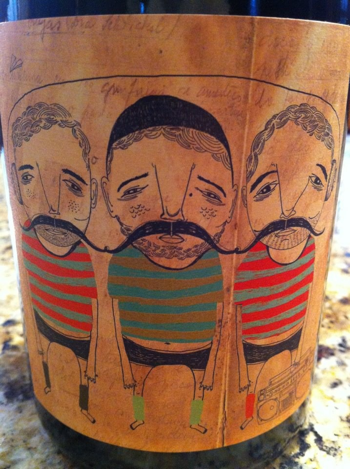 A very different sort of wine label!