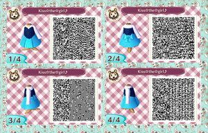 Animal Crossing New Leaf Disney Ariel's town dress QR code