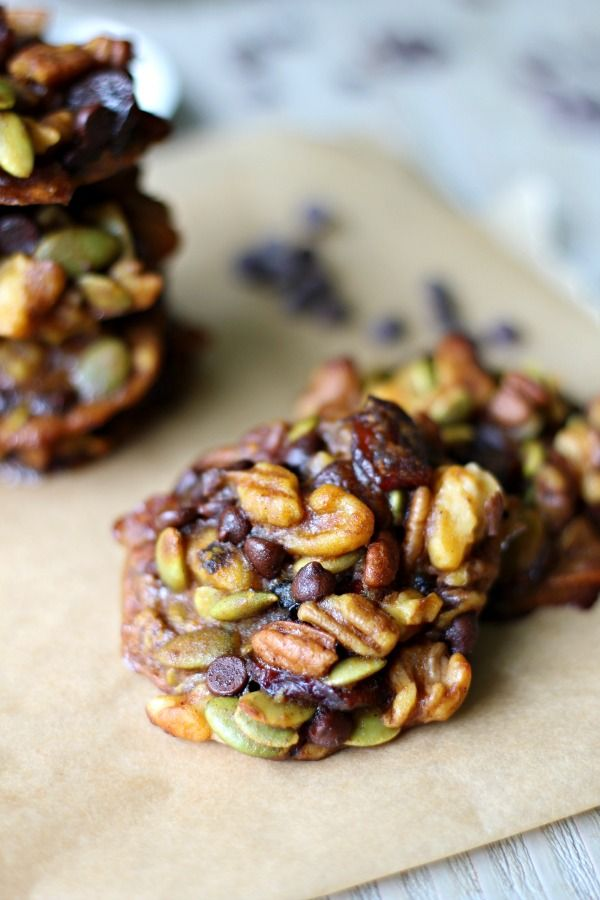 We love these flourless Pumpkin Power Cookies! Jam packed with nutrition and something my whole family likes! Makes a great grab and go healthy snack. Paleo, Gluten Free and Vegan.