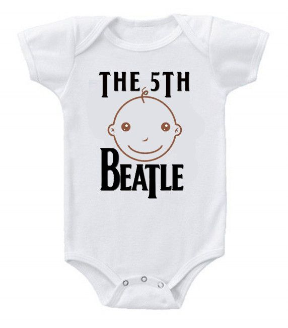 Funny Humor Custom Baby Bodysuits The Beatles The 5th Beatle #3
