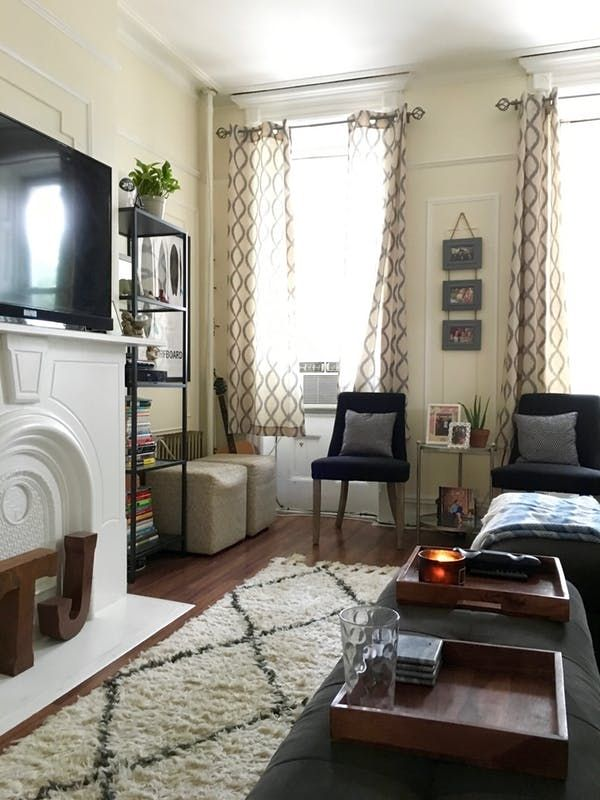 A Comfy Cozy Railroad Apartment Railroad Apartment Living Room Design Modern Narrow Living Room