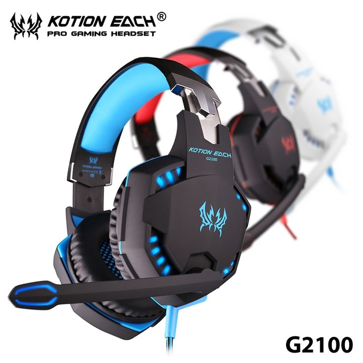 34.34$  Buy here  - EACH G2100 Vibration Function Pro Gaming Headphones Studio Headset Earphones with Mic Stereo LED Light for Computer Gamer
