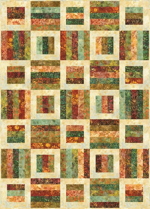 Radio Way designed by Jaybird Quilts. Features #ArtisanBatiks Cornucopia by Lunn Studios, shipping to stores May 2016. Roll up friendly. #radiowayquilt