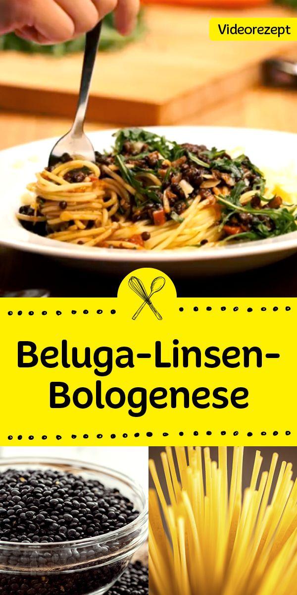 Bolognese   vegetarisch: in diesem Video zeigen wir, wie du die leckere   Belugalinsen-Bolognese ganz leicht selbst machst.