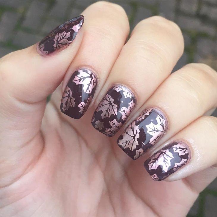 Beste Herbst Blätter Nail Art Designs für 2019 #nägel #gelnägel #2018 #tatto…