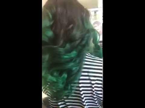 Ali'm kuaför yeşil saç - YouTube