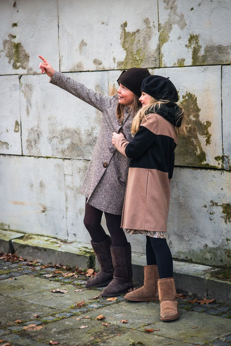 Girls wearing their favourite coats: 'Amelie' and 'Patrice'. www.ameliesophie.com