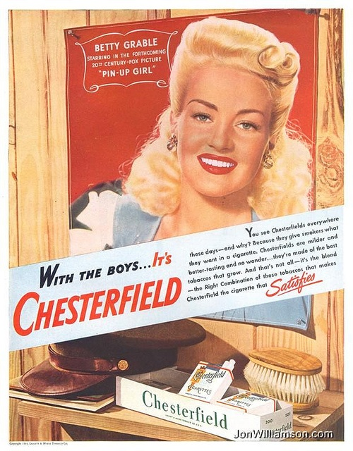 PIN-UP GIRL (1944) - Betty Grable for Chesterfield Cigarettes
