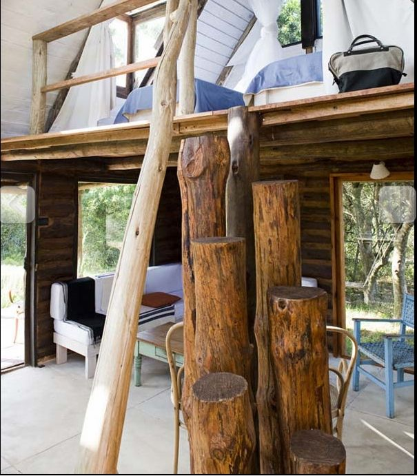 Unique Log Ladder To A Loft Lofts And Ladders