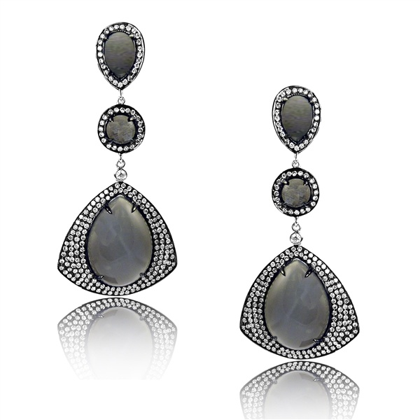 Dove's Jewelry grey moonstone earrings