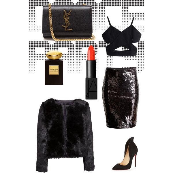 A fashion look from December 2014 featuring H&M jackets, H&M skirts and Christian Louboutin pumps. Browse and shop related looks.