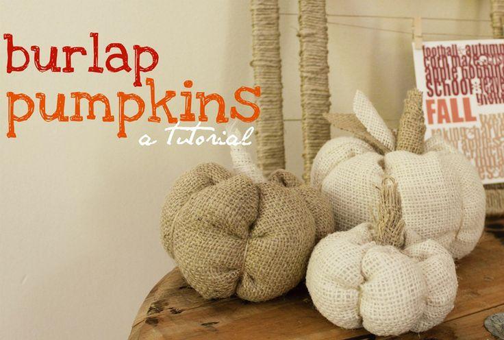 Burlap Pumpkins   Tutorial