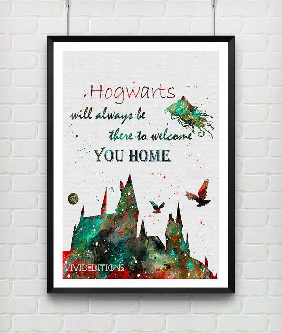 Harry Potter Hogwarts Quote Watercolor Art Poster Print, Dementor, Wall Art, Home Decor, Boy's Gift, Not Framed, Buy 2 Get 1 Free! [No. 10]