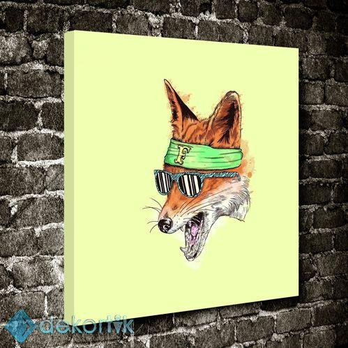 Rocker Tilki Tablo #creative_tablolar #yaratıcı_tablolar #yaratıcıkanvastablolar