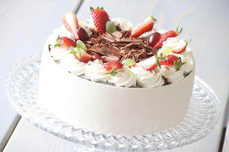 Opskrift på lækker lagkage med solbær og nougatmousse