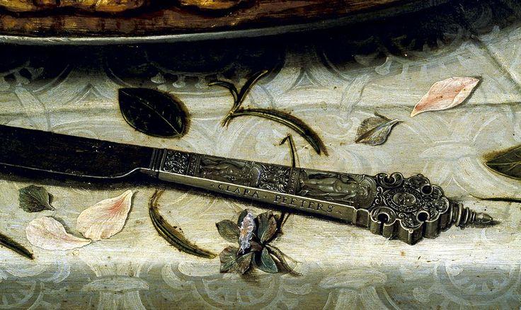 Clara Peeters. Detalle de Mesa. 1610-15. Museo del Prado (r) Museo del Prado, galería online (recorte)