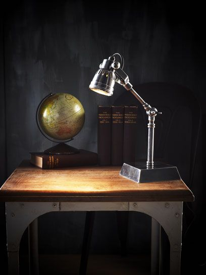 Hannover Desk Lamp Ant Silver