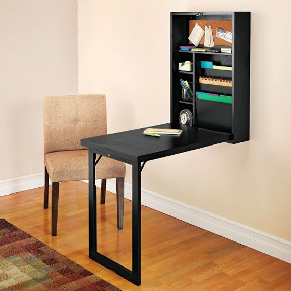 Wall mounted folding table home ideas pinterest pull for Diy fold down desk