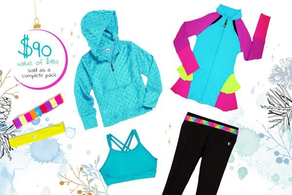 Gift set for active girls from the #1 Girls Tween Brand Limeapple just in time for the holidays. Shopping made easier.