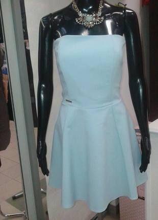 Kup mój przedmiot na #vintedpl http://www.vinted.pl/damska-odziez/krotkie-sukienki/12705241-blekitna-trapezowa-sukienka-z-gorsetem-bez-ramion
