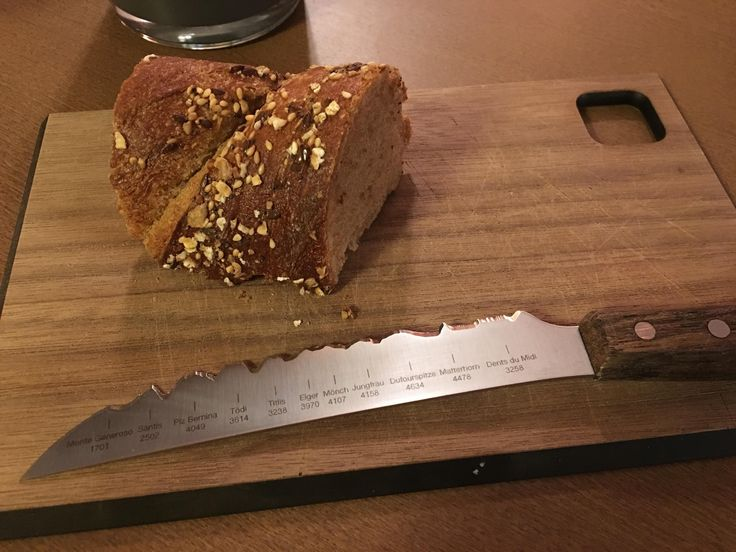Knife with the alps on it