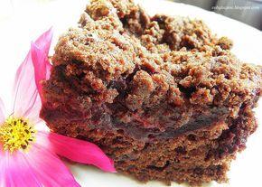 Maslankowe ciasto czekoladowe ze sliwkami