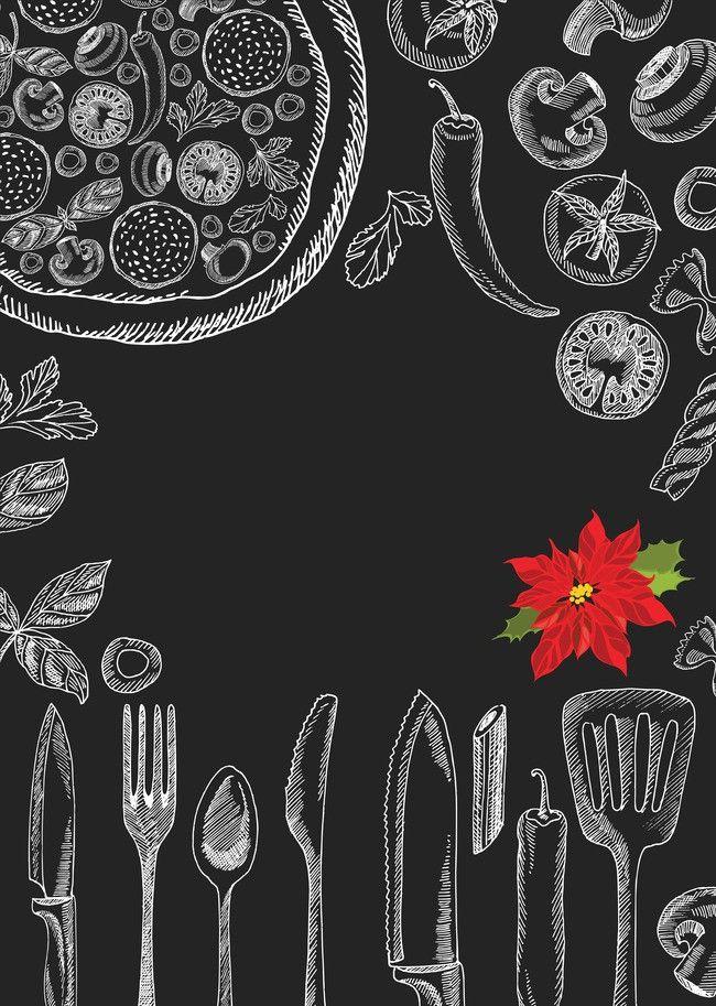 S Tableware Pizza Menu Background Template Menu de pizza