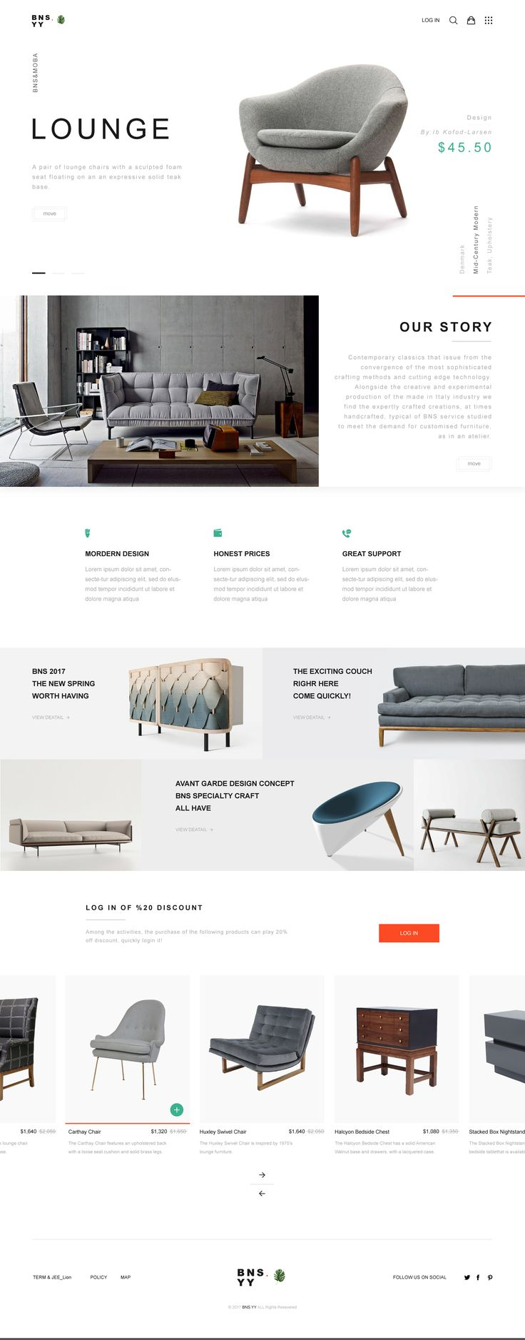 BNS.YY Furniture Landing Page - Learn how I made it to 100K in one months with e-commerce!