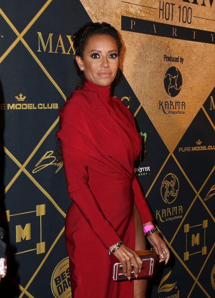 Mel B suffers awkward fashion fail in bright purple