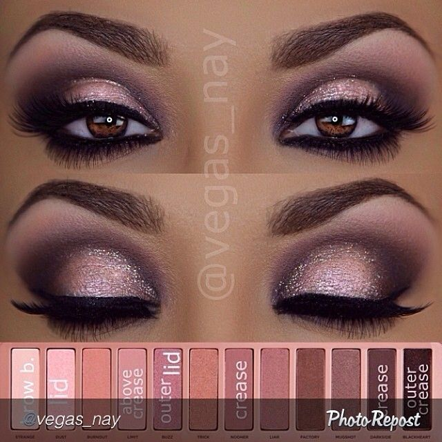"""makeupyolife: """"@vegas_nay is such an inspiration! Love love love her work. #inspiring #mua #tutorial Repost by @vegas_nay """"Steps to #urbandecaycosmetics Naked Palette 3 eyeshadows 1.) prime eyes and..."""