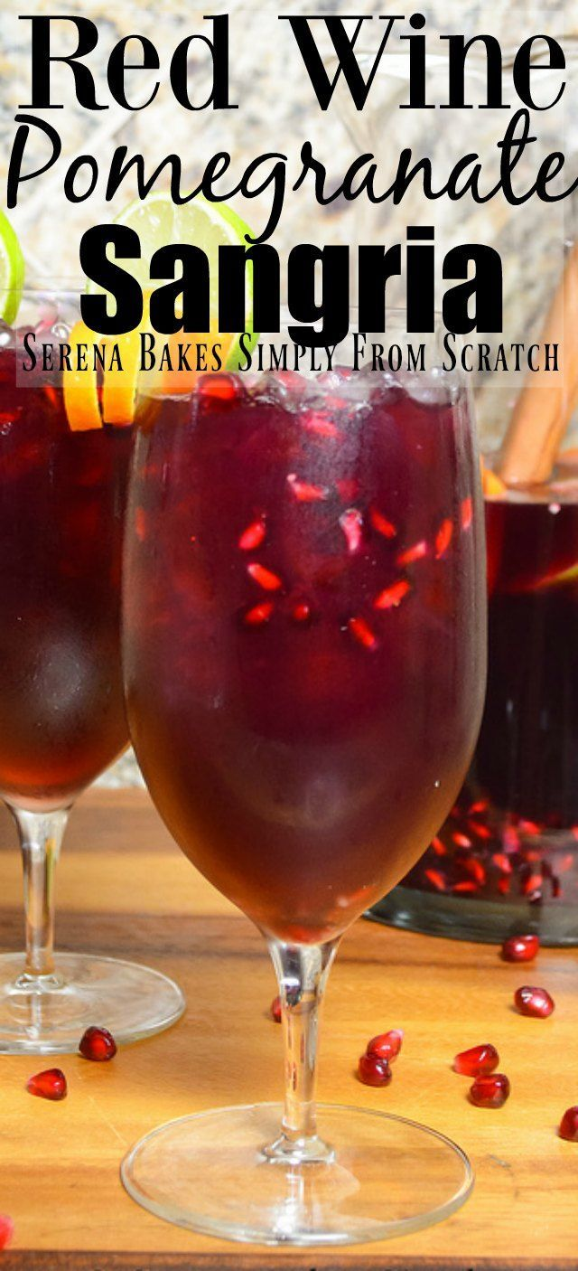 Red Wine Pomegranate Sangria Recipe With Ginger Beer Is The Perfect Cocktail For Easter 4th Of Pomegranate Sangria Pomegranate Sangria Recipes Sangria Recipes