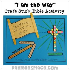 """I am the Way"" Bible Verse Activity Sheet for John 14:6 from www.daniellesplace.com"