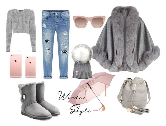 """Sweet grey"" by joanne2016 on Polyvore featuring UGG Australia, Harrods, STELLA McCARTNEY, rag & bone, See by Chloé, women's clothing, women's fashion, women, female and woman"