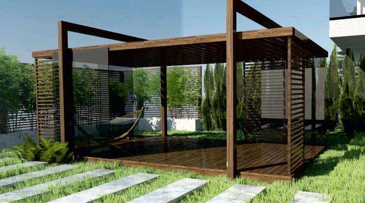 pergola altana taras z drewna klejonego 4 5 m x 5 m. Black Bedroom Furniture Sets. Home Design Ideas
