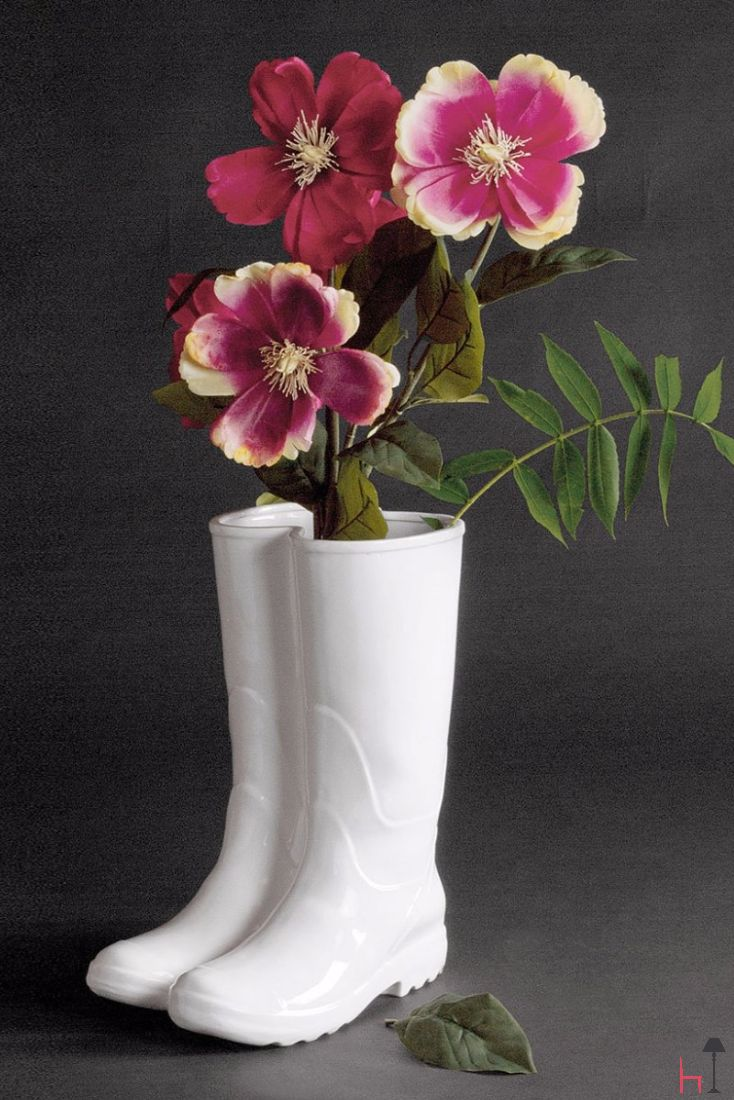 Designed by Selab for Seletti, Rainboots isn't just a generously sized vase, but also an original umbrella stand.